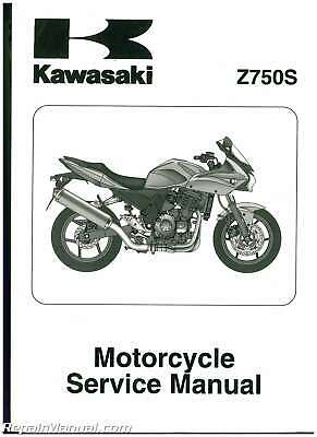 Used 2005 Kawasaki Z750S ZR750K Motorcycle Service Manual