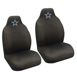 dallas cowboys chair cover cheap plastic chairs nfl car truck 2 front seat covers set official image is loading
