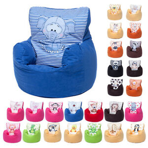 childrens bean bag chairs cowhide dining chair character filled beanbag kids seat bedroom image is loading