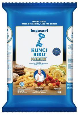 Tepung Kunci Biru : tepung, kunci, Kunci, Premium, Flour, Tepung, Terigu, Bogasari, Indonesia