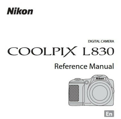 Nikon CoolPix L830 Digital Camera User Guide Instruction