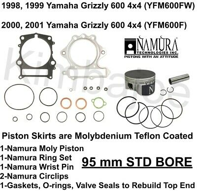 1998 1999 2000 2001 Yamaha Grizzly 600 4x4 ATV 95 mm Moly