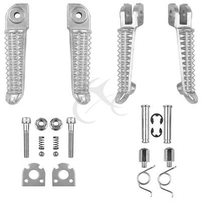 Motorcycle Front & Rear Foot Peg Footrest for Yamaha YZF