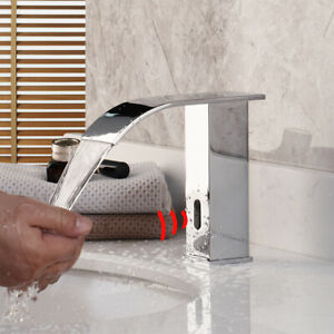 details about chrome automatic sensor hands free touchless bathroom faucet sink mixer tap