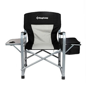 heavy duty folding chair with side table sling stacking kingcamp director s steel cooler bag image is loading 039