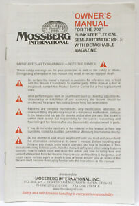 OEM Original Mossberg Model 702 Plinkster 22 Cal Semi-Auto