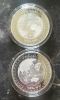 """5 Dollar Tokelau """"TERRA 2020"""" BU 1 Oz Unze Silber PROOFLIKE NUR 10.000"""