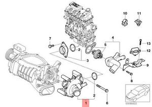 Genuine BMW MINI R52 R53 Cabrio Coupe Water Pump OEM