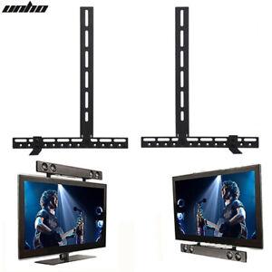 details about strong sound bar soundbar speaker bracket mount rack above below tv corner mount