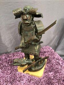 Z542 Tibetan Warrior statue wooden large snake oriental chinese Asian