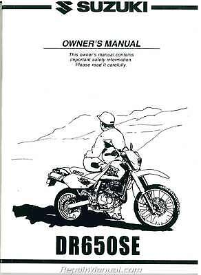 1998 1999 2000 Suzuki DR650SE W X Y Motorcycle Owners