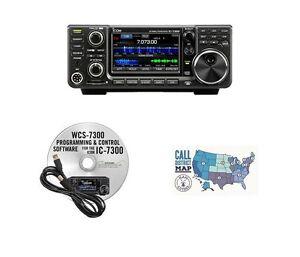 Icom IC-7300 HF/50MHz 100W Base Radio w/ RT Systems Programming Kit Bundle!!