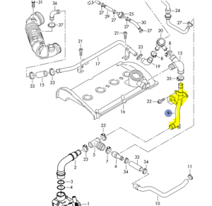 AUDI A4 CABRIO 1999-06 1.8T ENGINE OIL BREATHER VENT TUBE