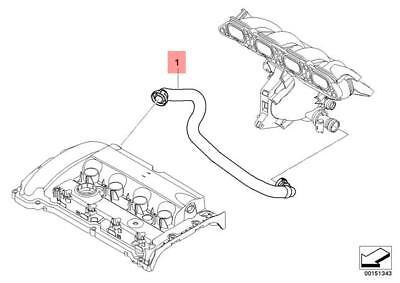Genuine Engine Crankcase Vent Hose MINI Cooper R55 R56 R57