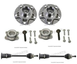 For Audi A4 Set of 2 Front Auto Trans. Axle Shaft & Wheel