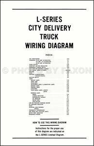 1970 Ford LTruck Wiring Diagram L800 L900 L8000 L9000