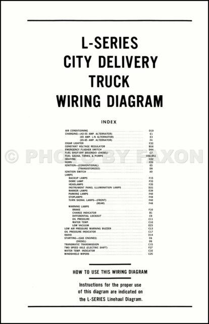 1970 Ford L-Truck Wiring Diagram L800 L900 L8000 L9000