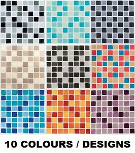 details about mosaic tile stickers transfers 12 24 or 48 for 150mm x 150mm 6 x 6 inch tiles