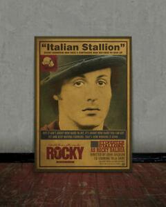 Rocky Balboa Coloring Page : rocky, balboa, coloring, Rocky,, Balboa,, Stallone,, Retro, Movie, Poster,, Vintage