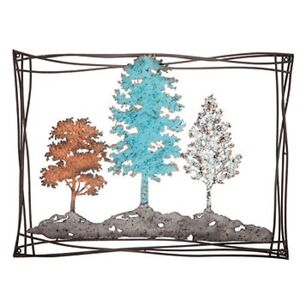 wall art rustic metal tree decor timeless artwork modern style