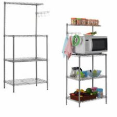 Kitchen Bakers Rack Red Light Shades Us 4tier Microwave Oven Stand Storage Cart Workstation Shelf