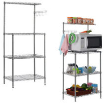 kitchen bakers rack drano for sink us 4tier microwave oven stand storage cart workstation shelf