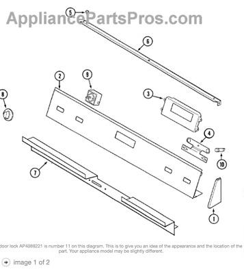 BG33) Range Stove WHIRLPOOL AMANA JENN-AIR DOOR LOCK WIRE