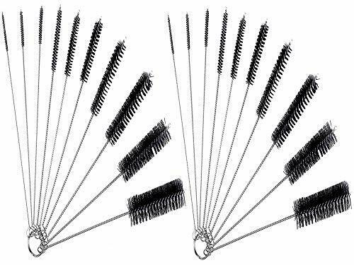 Nylon Cleaning Brush Set of 10 for Bottle Tube Jar and