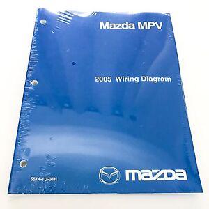 [NEW] 2005 Mazda MPV Minivan Factory OEM Wiring Diagram
