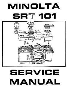 Manuale di Riparazione Minolta SRT 101 (Service Manual SRT