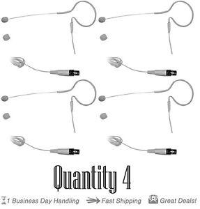 QTY 4 Pyle PMEMS10 In Ear Mini XLR Omni-Directional