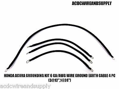 HONDA ACURA GROUNDING KIT # 6 GAUGE WIRE GROUND EARTH