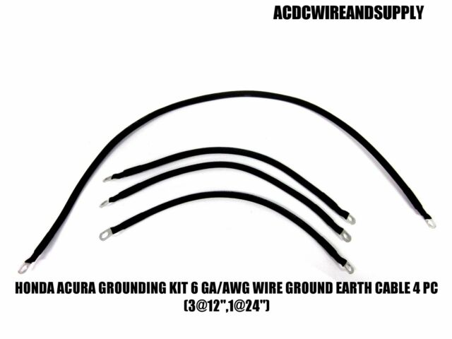 HONDA ACURA GROUNDING KIT # 6 GAUGE WIRE GROUND EARTH