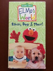 Elmo's World Babies Dogs And More 2000 Vhs : elmo's, world, babies, SESAME, STREET