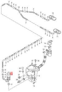 Genuine Windscreen Washer System Pump Front VW AUDI Amarok