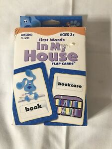 Blue's Clues Words : blue's, clues, words, Blue's, Clues, First, Words, House, Cards, Flash