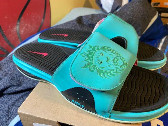 Nike Air Lebron Slide South Beach Miami Heat 11 487332-400 ...