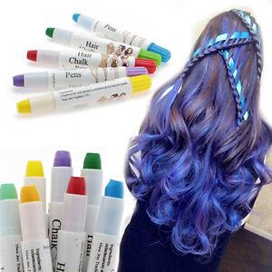 hair chalk pens crayon temporary hair dye colour kit pastels colours salon ebay