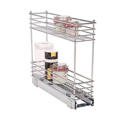 small narrow kitchen sliding storage organizer pull out rack under cabinet new ebay