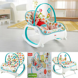 baby chair rocker mesh ergonomic office infant to toddler bouncer seat sleeper swing toy image is loading