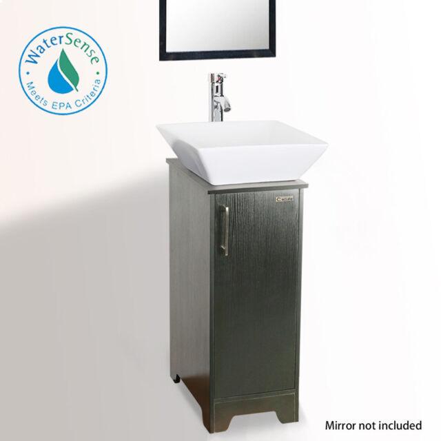 black small bathroom vanity 14 square white ceramic sink faucet cabinet single