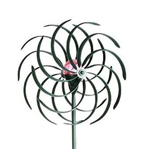 Wind Spinner Sculpture With Color Changing Solar Light