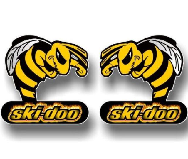 2 Ski Doo Flamin Bee 5 Vinyl Decals Snowmobile Summit Sled Mxz Stickers