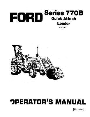 NEW HOLLAND Ford SE4078A 770B Quick Attachment Loader Ser