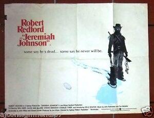 details about jeremia johnson robert redford uk british quad original movie poster 70s