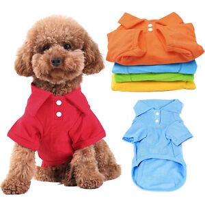 Pet Puppy Summer Shirt Small Dog Cat Pet Clothes Costume