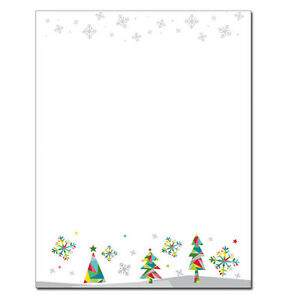 Prismatic Holiday Winter Christmas Stationery Letterhead