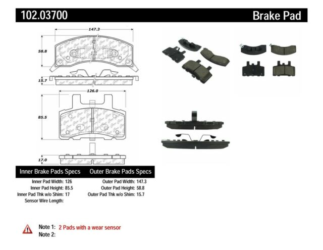 Disc Brake Pad Set fits 1988-2002 GMC C3500,K3500 C2500