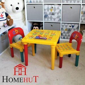 Dettagli Su Tavolo E Sedia Serie Abc Alfabeto Per Bambini In Plastica Bambini Bambini Bambini Scuola Mostra Il Titolo Originale