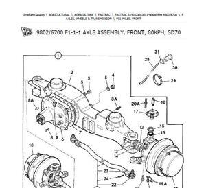 JCB Fastrac 3190 (s.n.00643011-00644999) parts catalog in